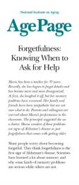 Forgetfulness: Knowing When to Ask for Help brochure