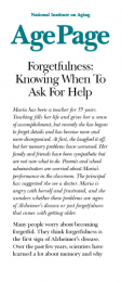 Forgetfulness: Knowing When to Ask for Help