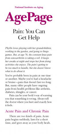Pain: You Can Get Help