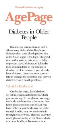 Diabetes In Older People-A Disease You Can Manage