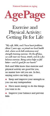 Cover page of Exercise and Physical Activity: Getting Fit for Life