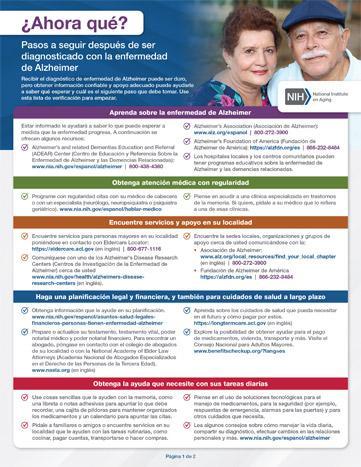 Pasos a seguir después de ser diagnosticado con la enfermedadde Alzheimer