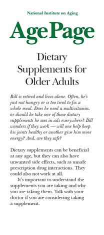 Dietary Supplements for Older Adult publication