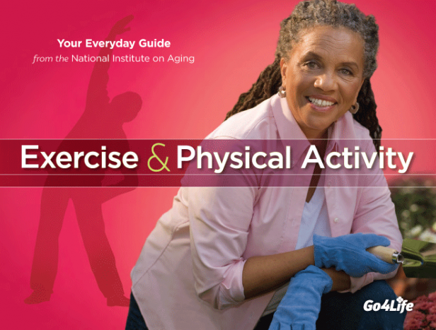 picture of older adult woman wearing gloves and shadow of person doing exercise