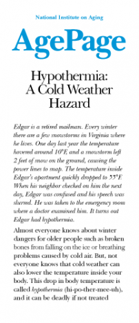 Hypothermia: A Cold Weather Hazard